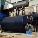 Rohbau für Doppelflammrohrkessel 2 x 20 t/h, 19 bar, Doppel-Gasfeuerung Monoblock, Economiser, Rauchgaskondensator