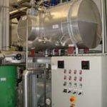 Pure steam generator 700 kg/h, 3 bar steam pressure control deviation less than 0.1 bar
